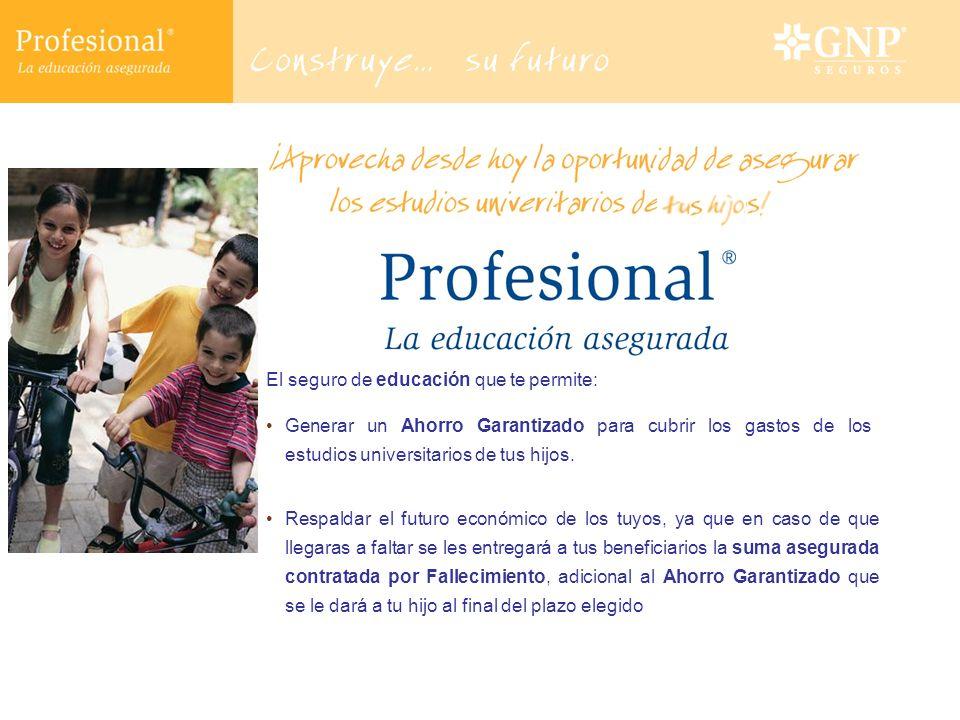 Además, Profesional te da la opción de complementar tu protección a través de diversas coberturas adicionales.
