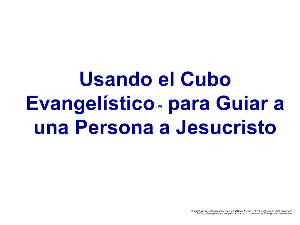Usando el Cubo Evangelístico para Guiar a una Persona a Jesucristo Impreso por el Ministerio de la Película JESUS Harvest Partners de la Iglesia del N