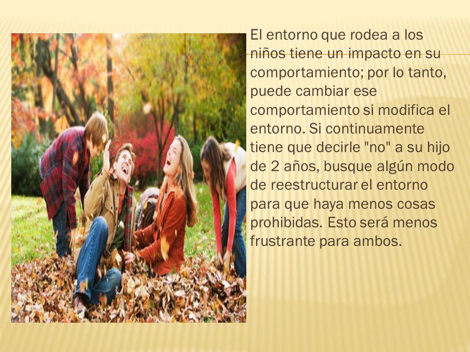 El entorno que rodea a los niños tiene un impacto en su comportamiento; por lo tanto, puede cambiar ese comportamiento si modifica el entorno.