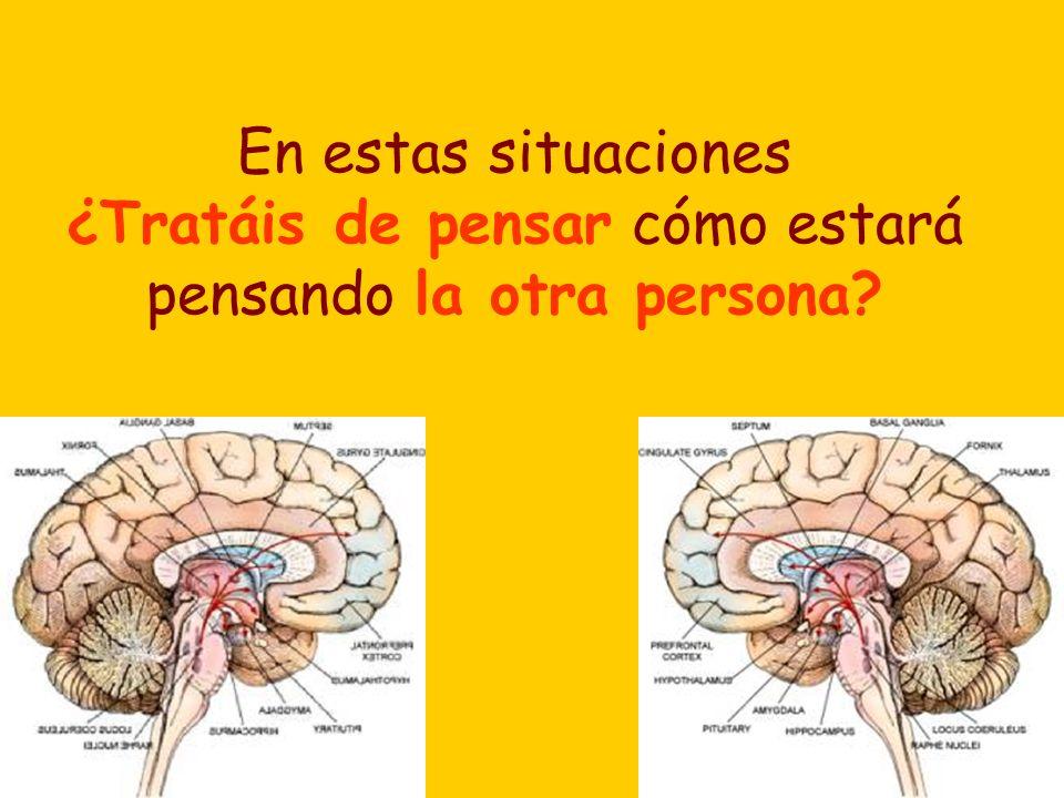 En estas situaciones ¿Tratáis de pensar cómo estará pensando la otra persona?