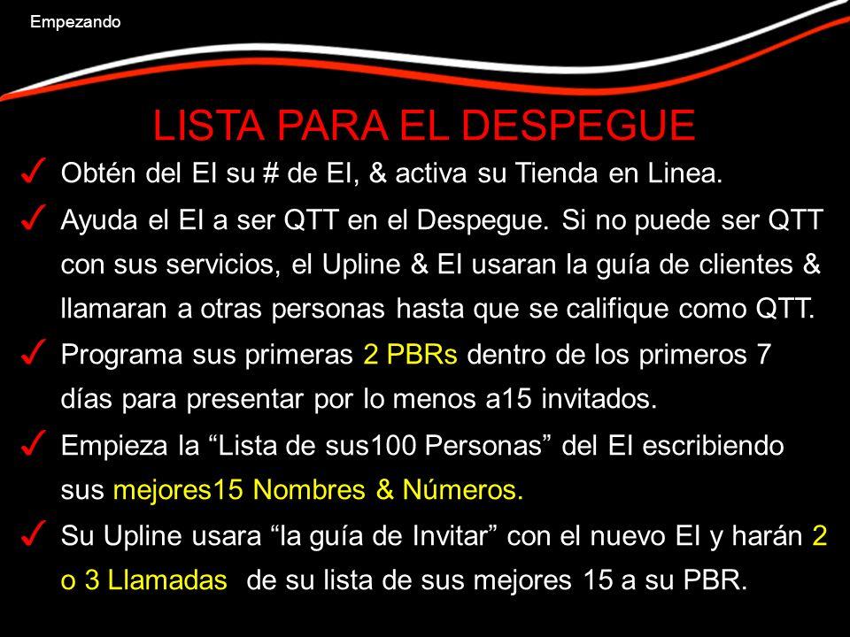 METAS DE CLIENTES QTT en el Despegue.15 Pts en 14 días.