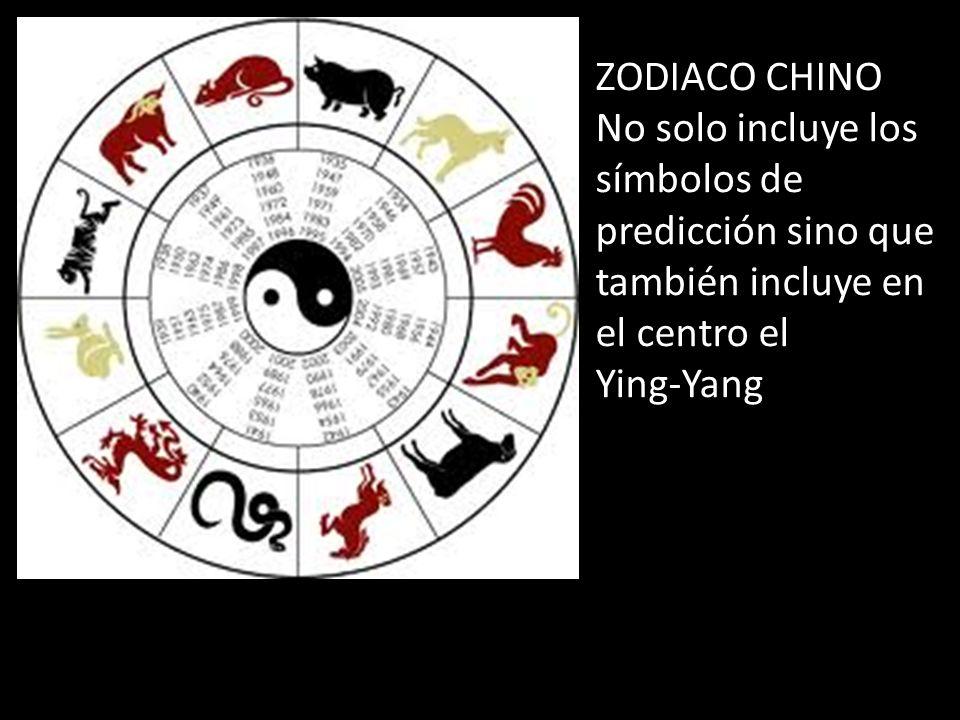 ZODIACO CHINO No solo incluye los símbolos de predicción sino que también incluye en el centro el Ying-Yang