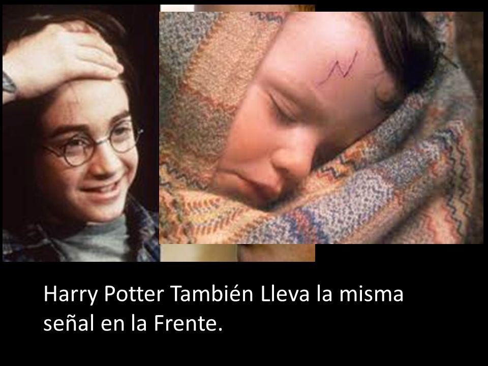 Harry Potter También Lleva la misma señal en la Frente.