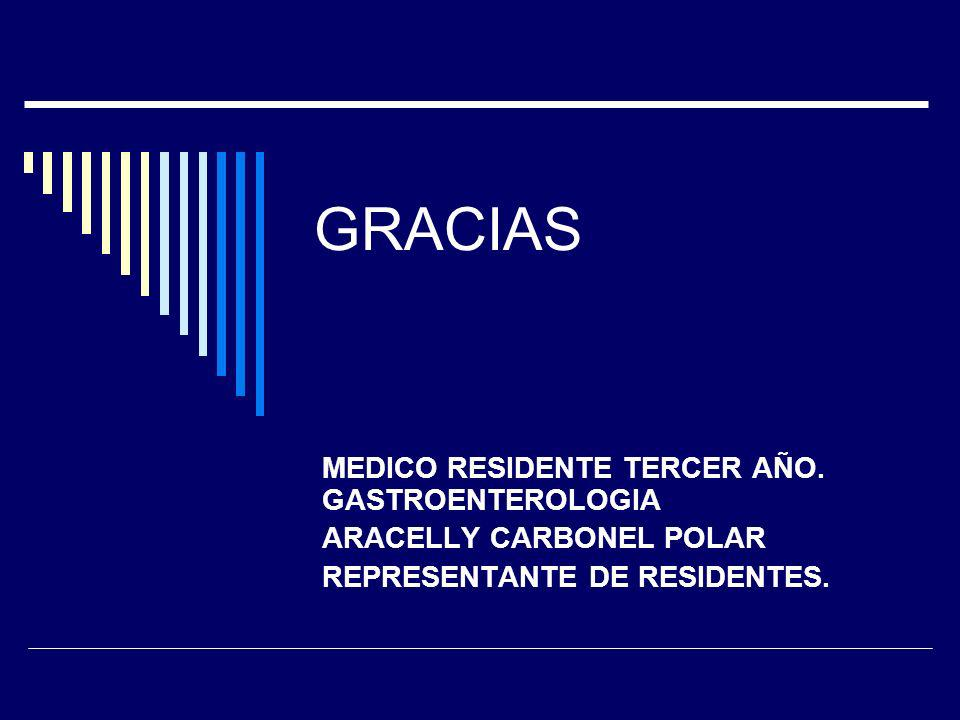 GRACIAS MEDICO RESIDENTE TERCER AÑO.