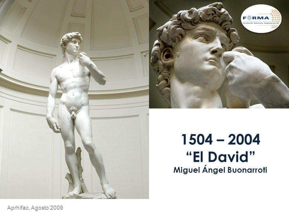 1504 – 2004 El David Miguel Ángel Buonarroti Aprhifac, Agosto 2009