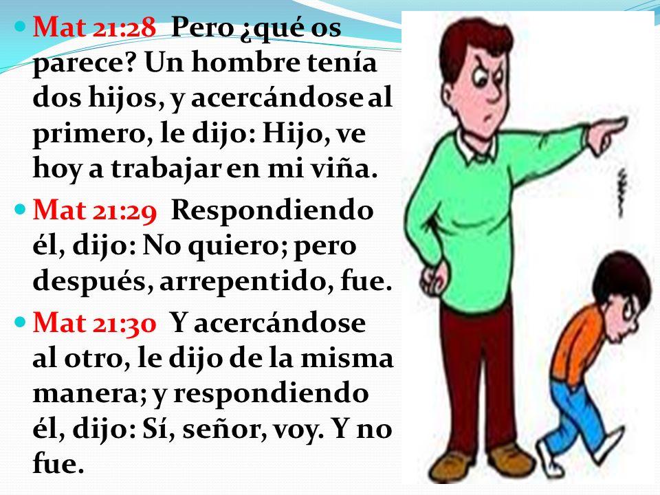 Mat 21:28 Pero ¿qué os parece.