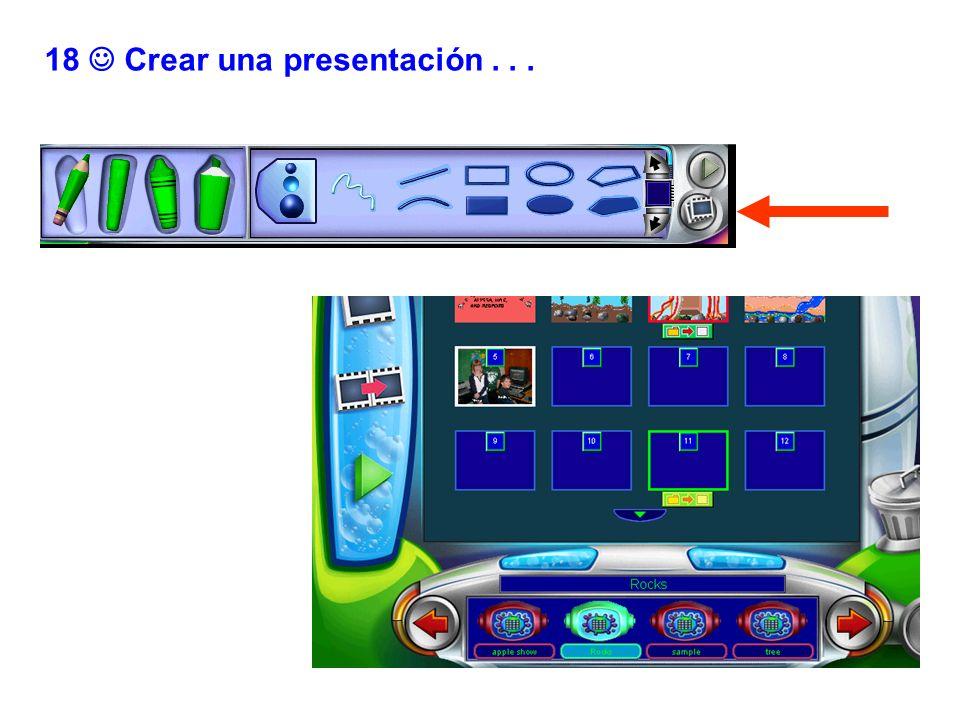 18 Crear una presentación...