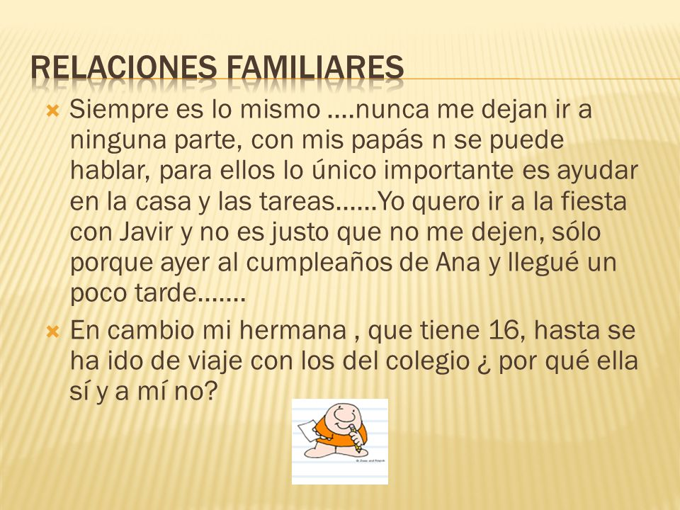 RELACIONES FAMILIARES RELACIONES FAMILIARES