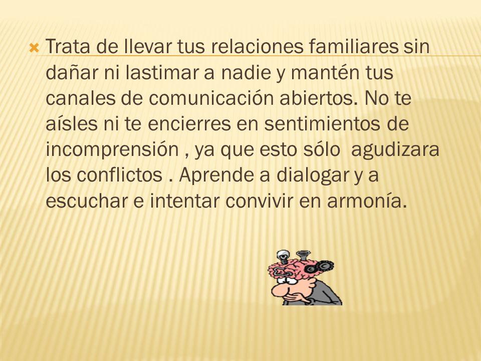 Un aspecto que juega un rol importante en las relaciones del adolecente con la familia, es cambio generacional con sus padres.