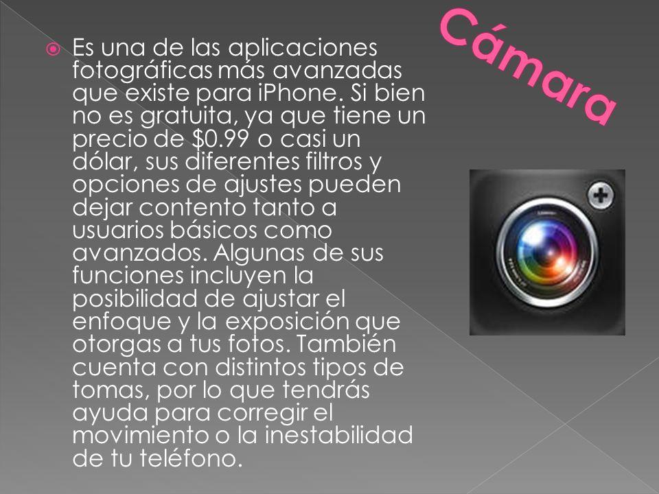 Es una de las aplicaciones fotográficas más avanzadas que existe para iPhone.