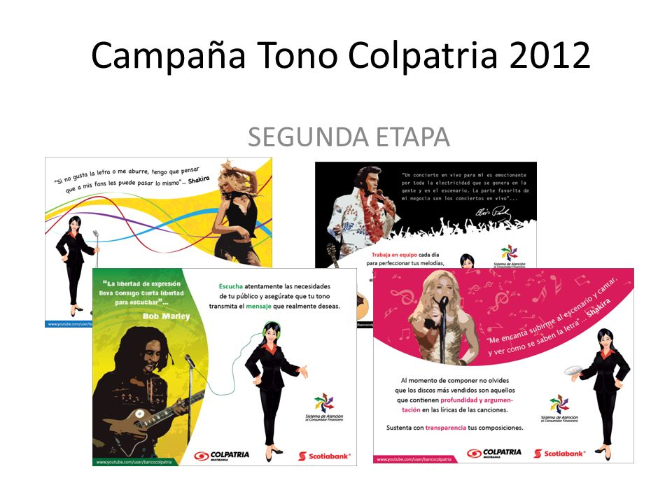 Campaña Tono Colpatria 2012 SEGUNDA ETAPA