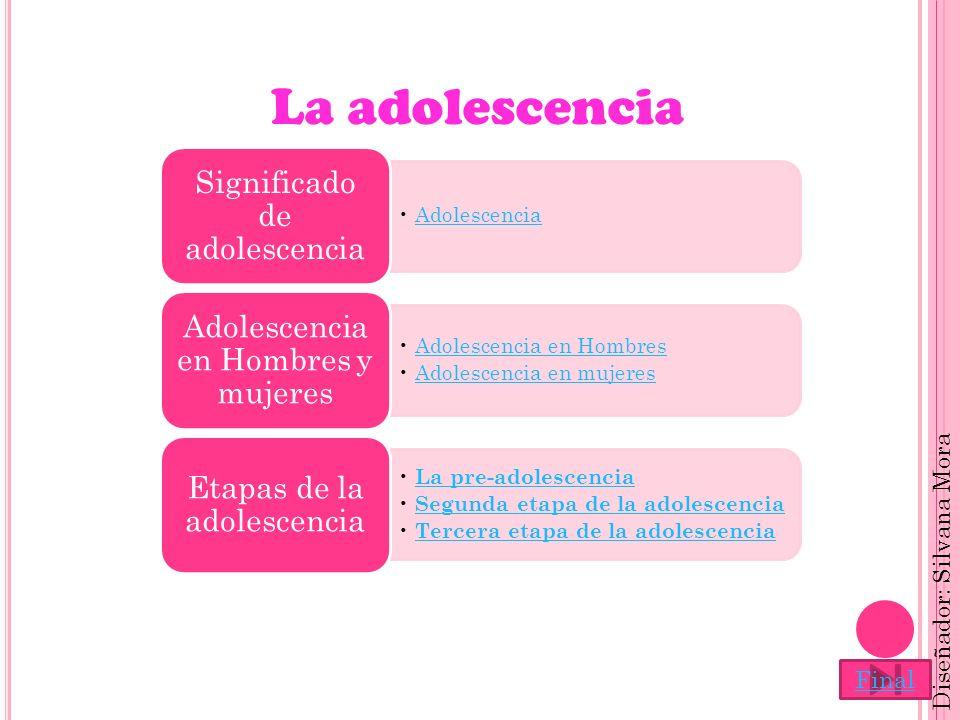 La adolescencia Adolescencia Significado de adolescencia Adolescencia en Hombres Adolescencia en mujeres Adolescencia en Hombres y mujeres La pre-adol