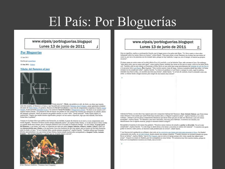 El País: Por Bloguerías