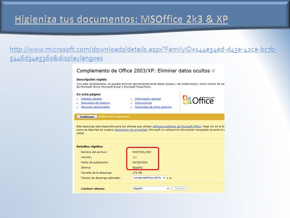 http://www.microsoft.com/downloads/details.aspx FamilyID=144e54ed-d43e-42ca-bc7b- 5446d34e5360&displaylang=es