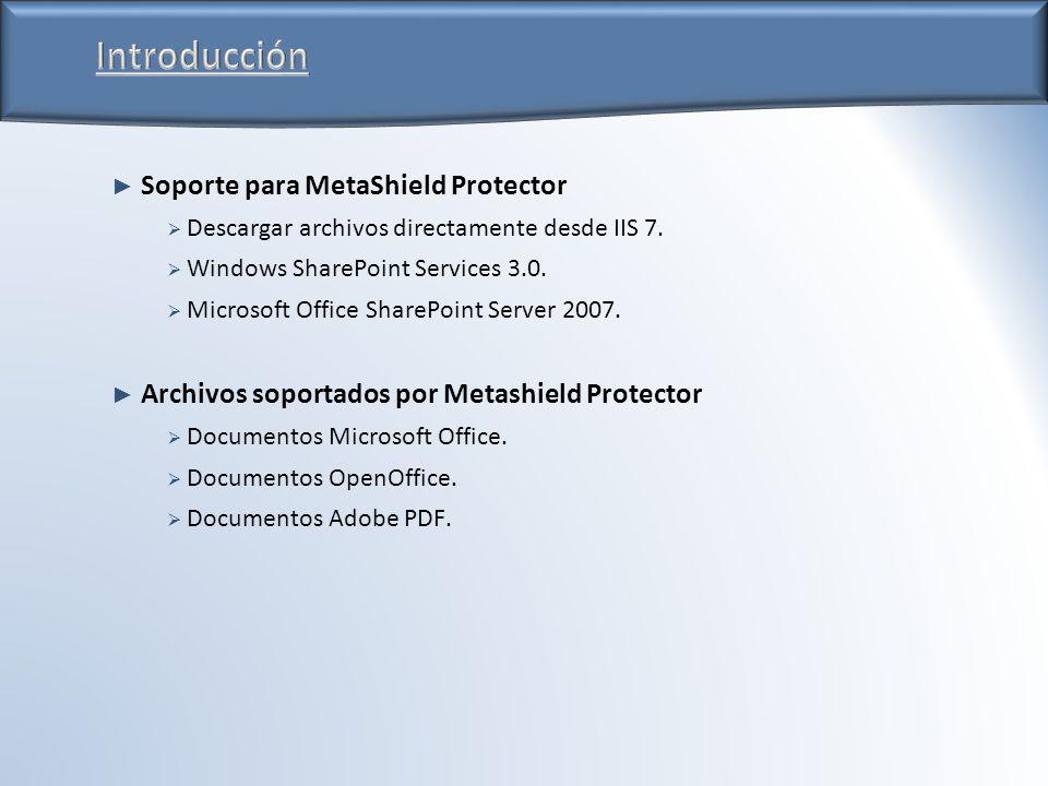 Soporte para MetaShield Protector Descargar archivos directamente desde IIS 7.
