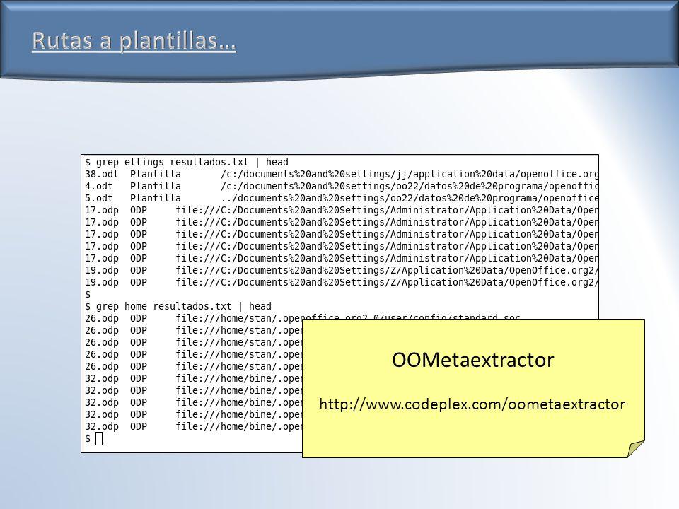 OOMetaextractor http://www.codeplex.com/oometaextractor