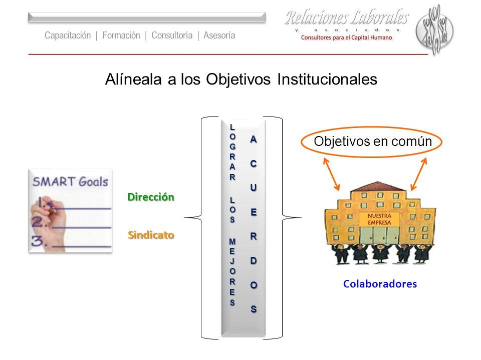 Alíneala a los Objetivos Institucionales Dirección Sindicato Colaboradores Objetivos en común