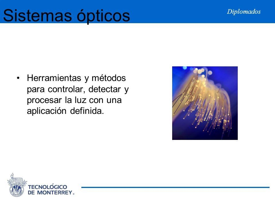 Diplomados Sistemas ópticos Herramientas y métodos para controlar, detectar y procesar la luz con una aplicación definida.