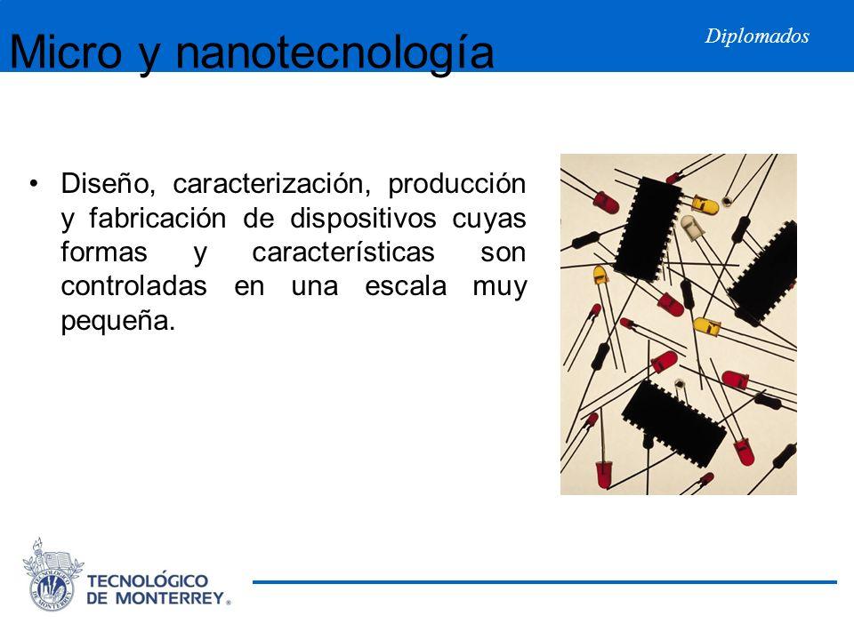 Diplomados Micro y nanotecnología Diseño, caracterización, producción y fabricación de dispositivos cuyas formas y características son controladas en