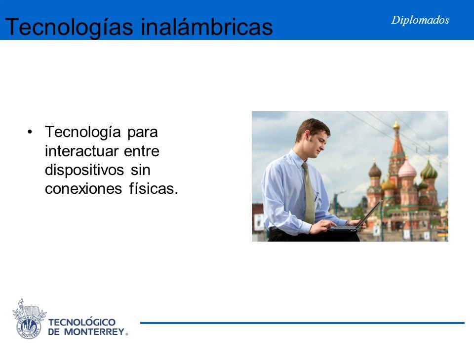 Diplomados Tecnologías inalámbricas Tecnología para interactuar entre dispositivos sin conexiones físicas.