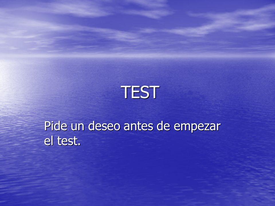 TEST TEST Pide un deseo antes de empezar el test.