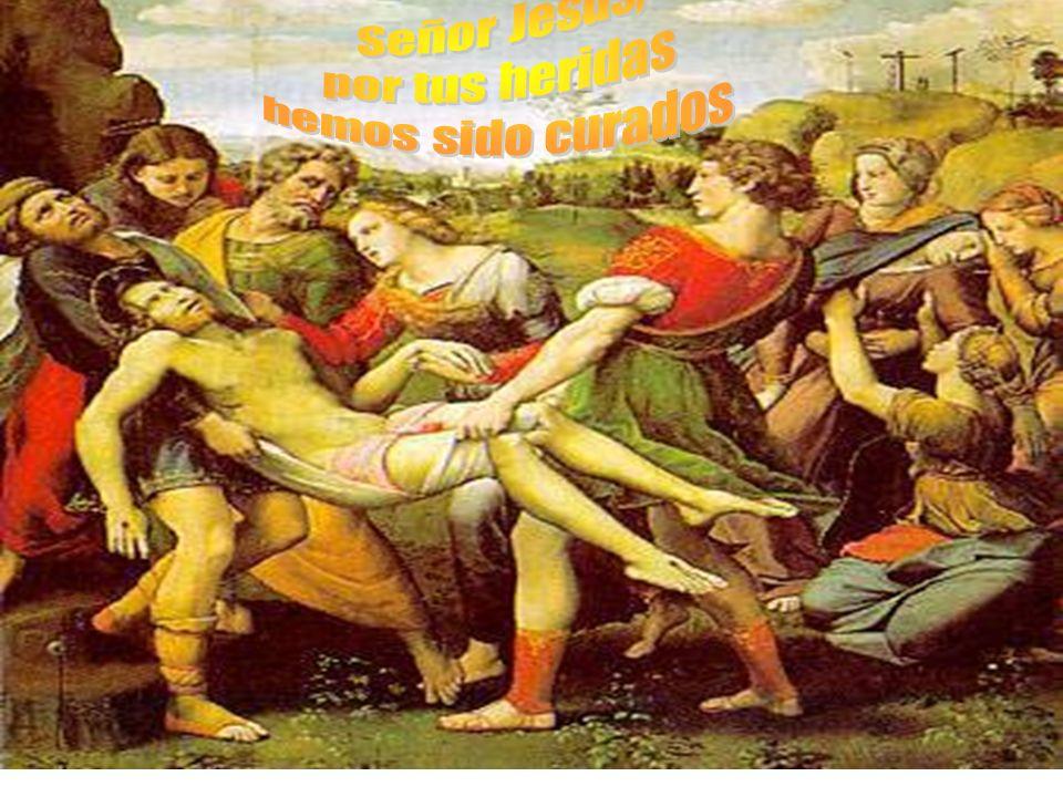 de las heridas hechas a la dignidad de las personas. abiertas por la flagelación, sánanos de las heridas de la sensualidad, del desorden de los sentid