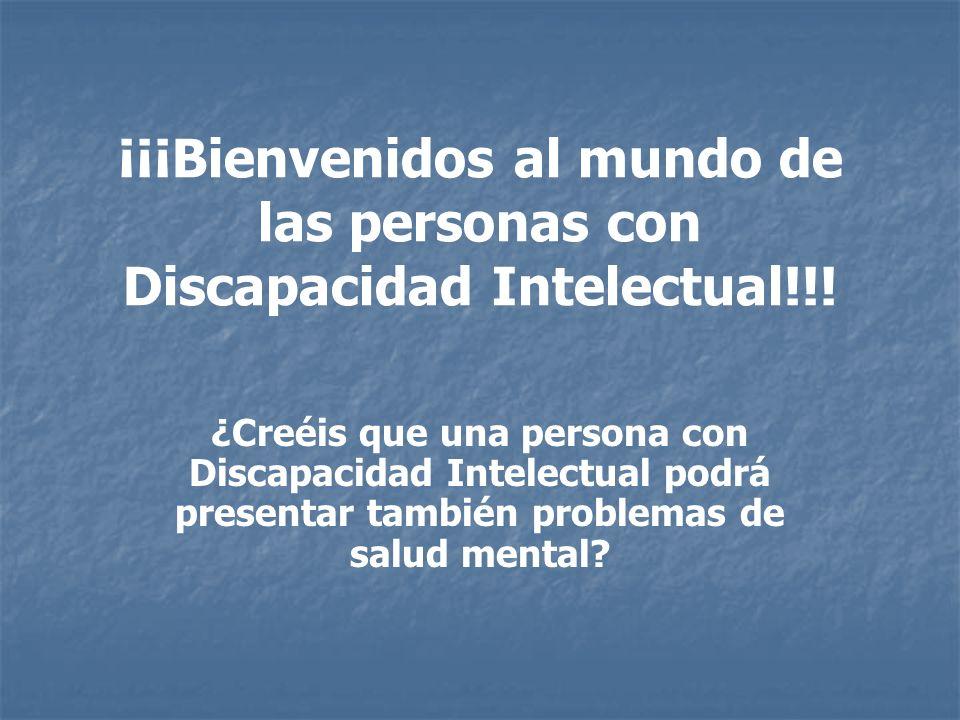 Principales trastornos mentales en D.I.