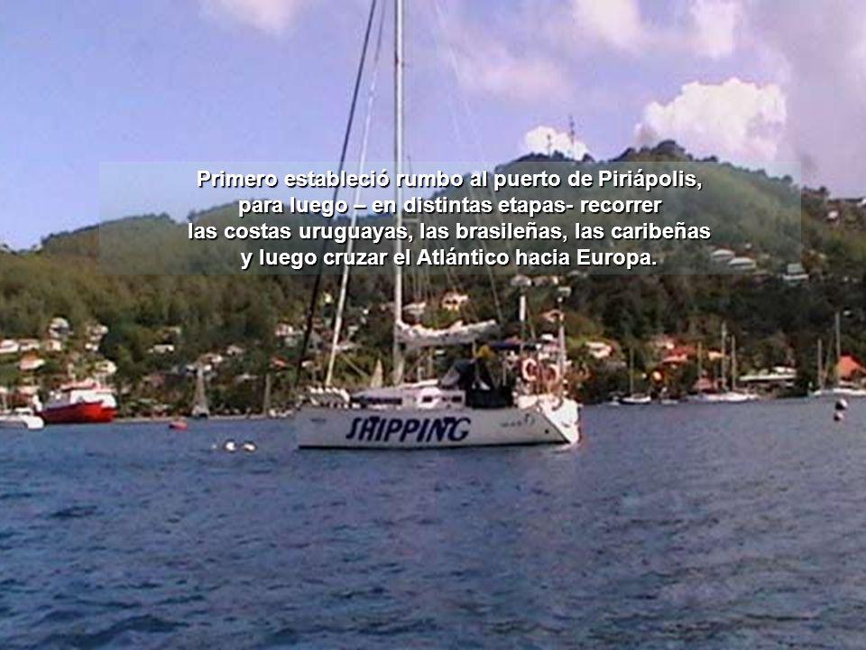 Aurora soltó amarras el pasado sábado 17 de Abril el pasado sábado 17 de Abril desde el puerto de Olivos a bordo del velero Shipping a bordo del veler