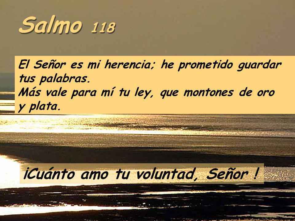 Salmo 118 El Señor es mi herencia; he prometido guardar tus palabras.