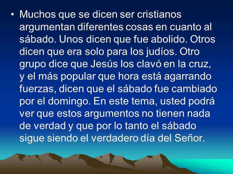 Marcos 2:27-28 También les dijo: El sábado por causa del hombre es hecho.