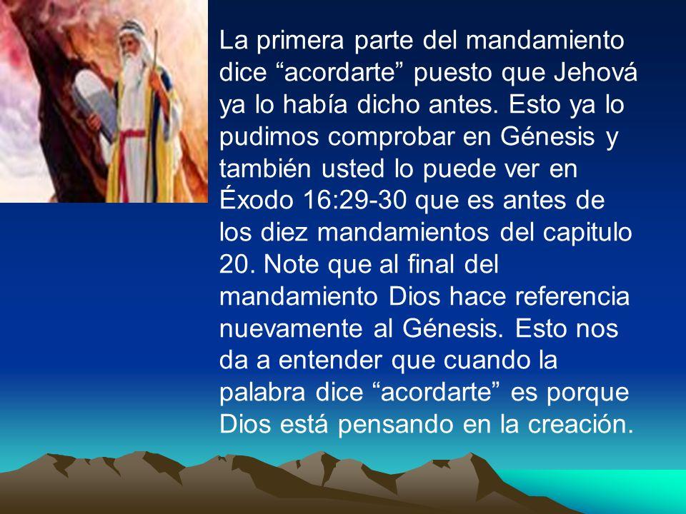 La segunda parte del mandamiento es la que indica quines son los que van a utilizar el sábado para uso sagrado.