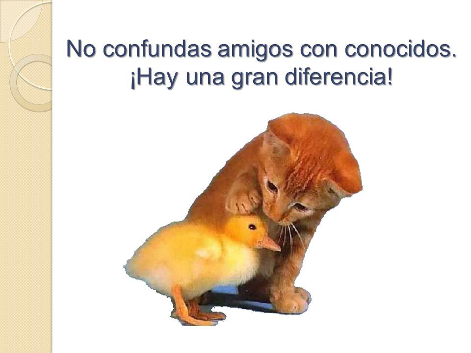 No confundas amigos con conocidos. ¡Hay una gran diferencia!
