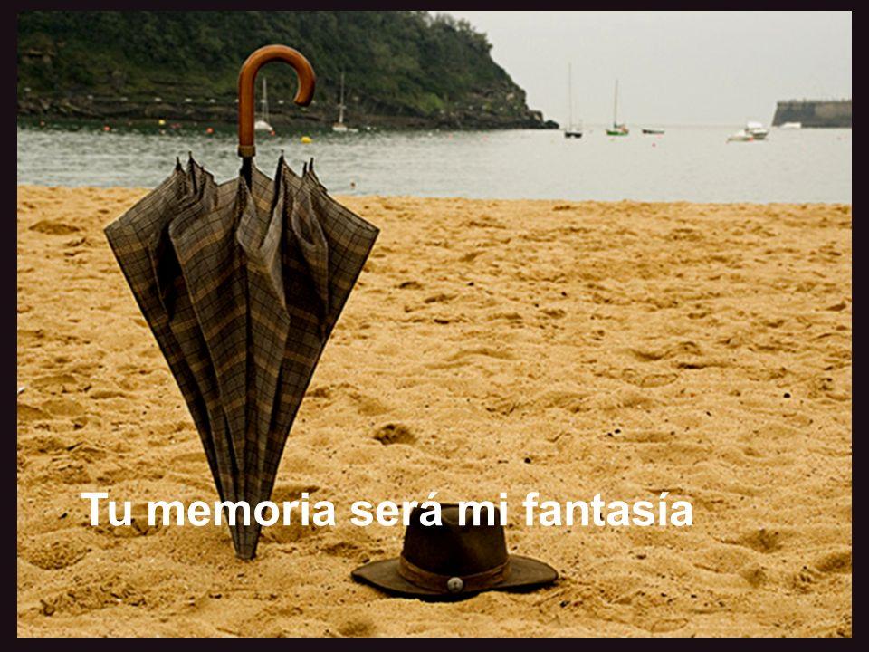 Es inútil regodearse en el pasado Tu memoria será mi fantasía