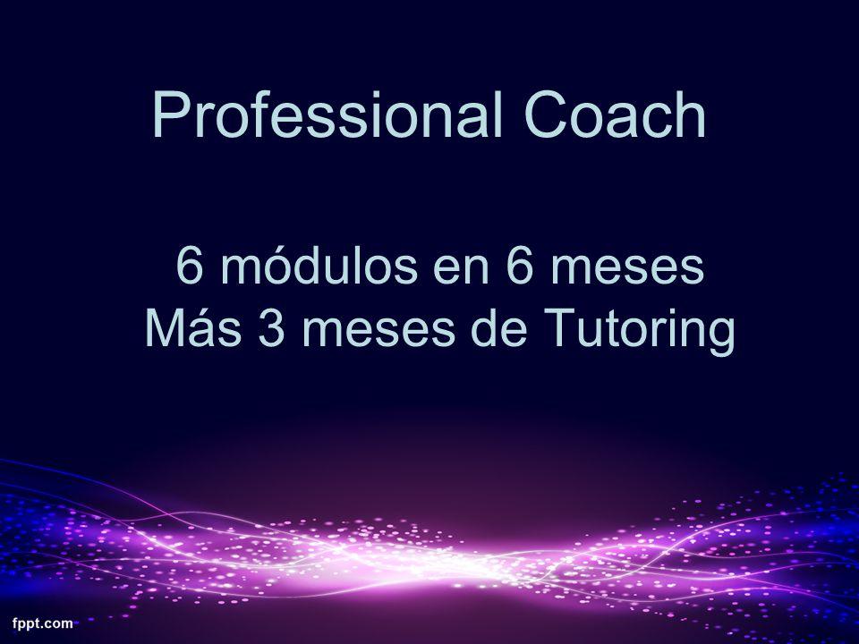Professional Coach 6 módulos en 6 meses Más 3 meses de Tutoring