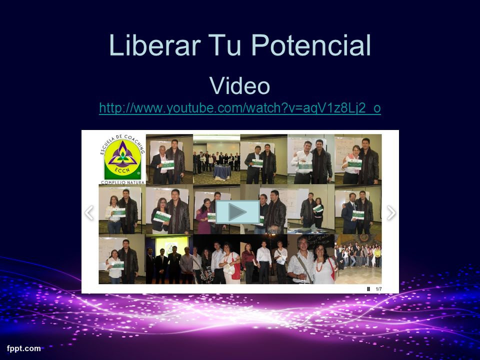 Liberar Tu Potencial Video http://www.youtube.com/watch v=aqV1z8Lj2_o