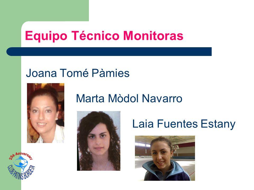 Joana Tomé Pàmies Marta Mòdol Navarro Laia Fuentes Estany Equipo Técnico Monitoras