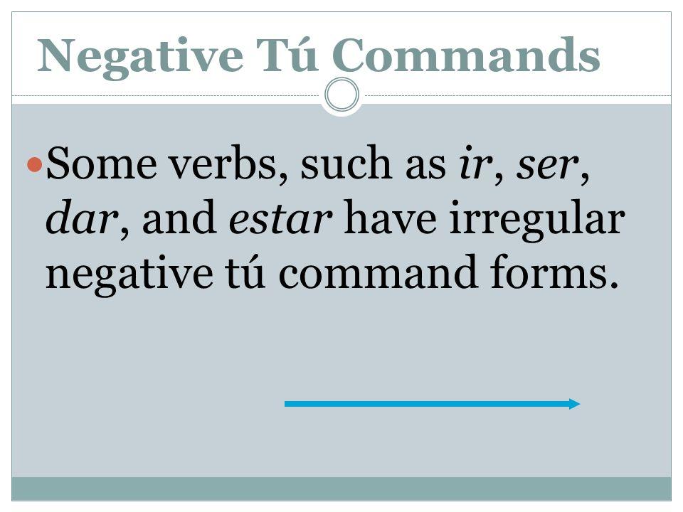 Negative Tú Commands LLEGAR llegollegues No llegues tarde. -gar (g…gu)