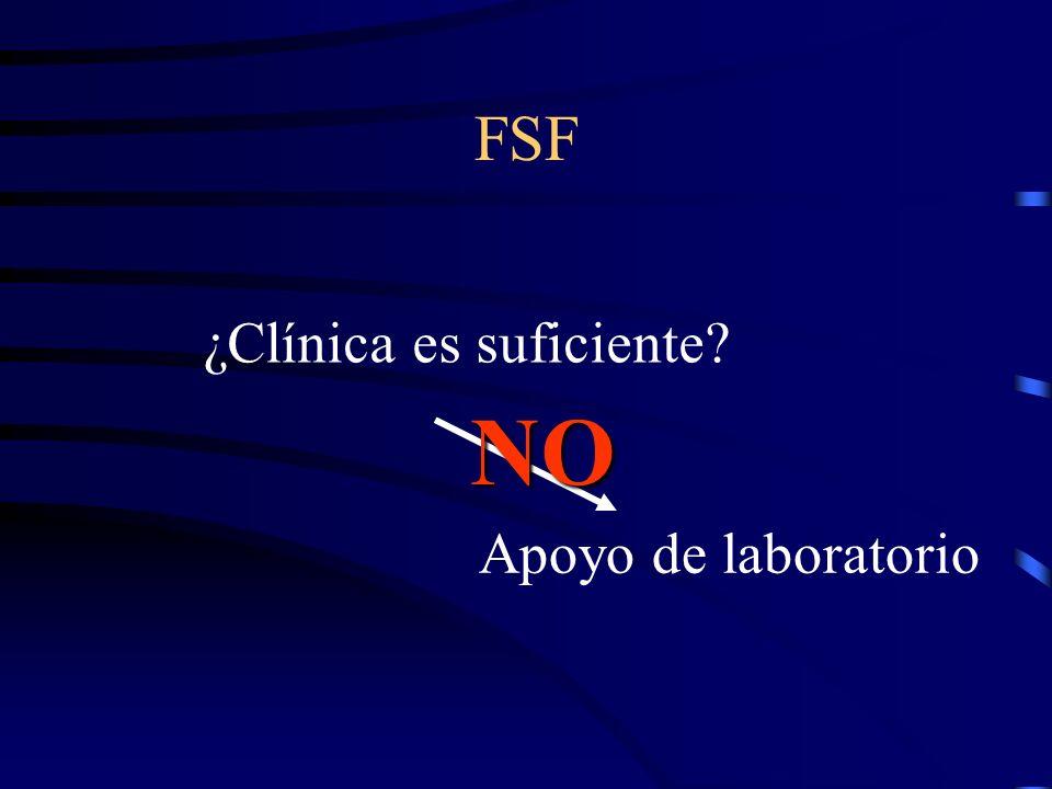 FSF ¿Clínica es suficiente? Apoyo de laboratorio NO