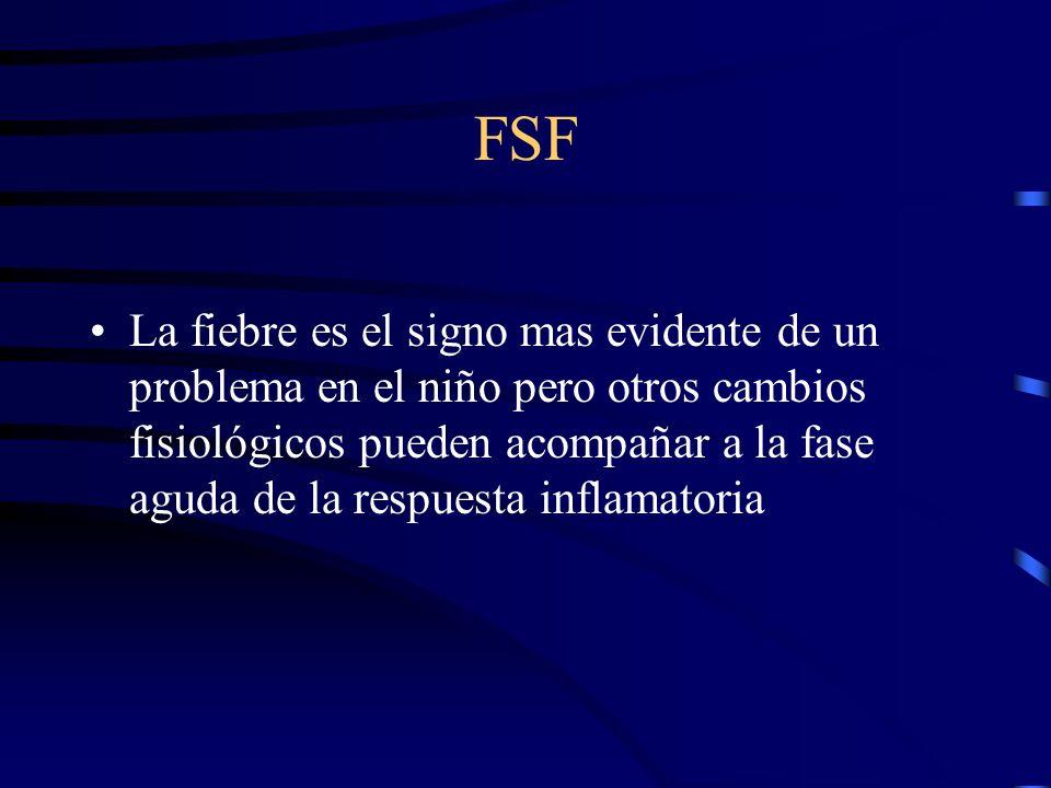 FSF La fiebre es el signo mas evidente de un problema en el niño pero otros cambios fisiológicos pueden acompañar a la fase aguda de la respuesta infl