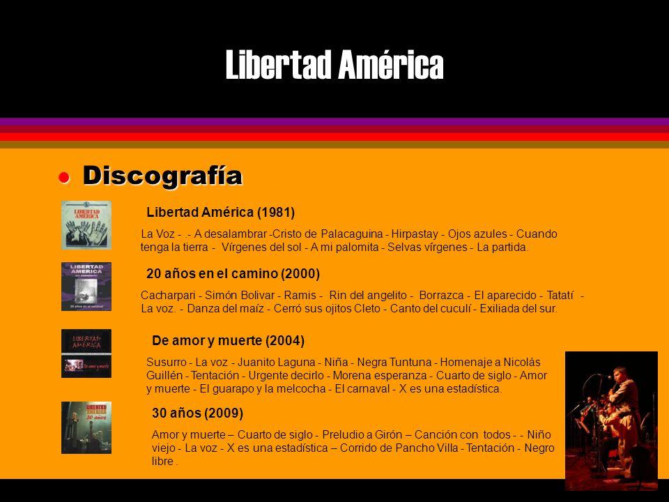 Libertad América l Costos $3500 Euros más impuestos aplicables por 1 presentación.