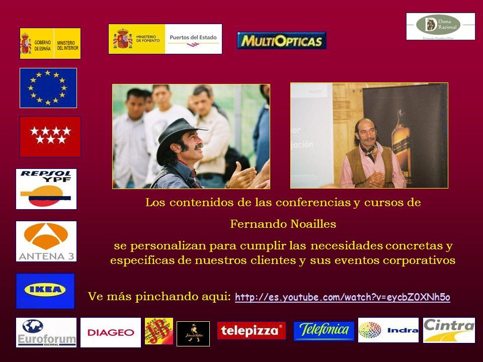 Los contenidos de las conferencias y cursos de Fernando Noailles se personalizan para cumplir las necesidades concretas y especificas de nuestros clientes y sus eventos corporativos Ve más pinchando aqui: http://es.youtube.com/watch v=eycbZ0XNh5o http://es.youtube.com/watch v=eycbZ0XNh5o