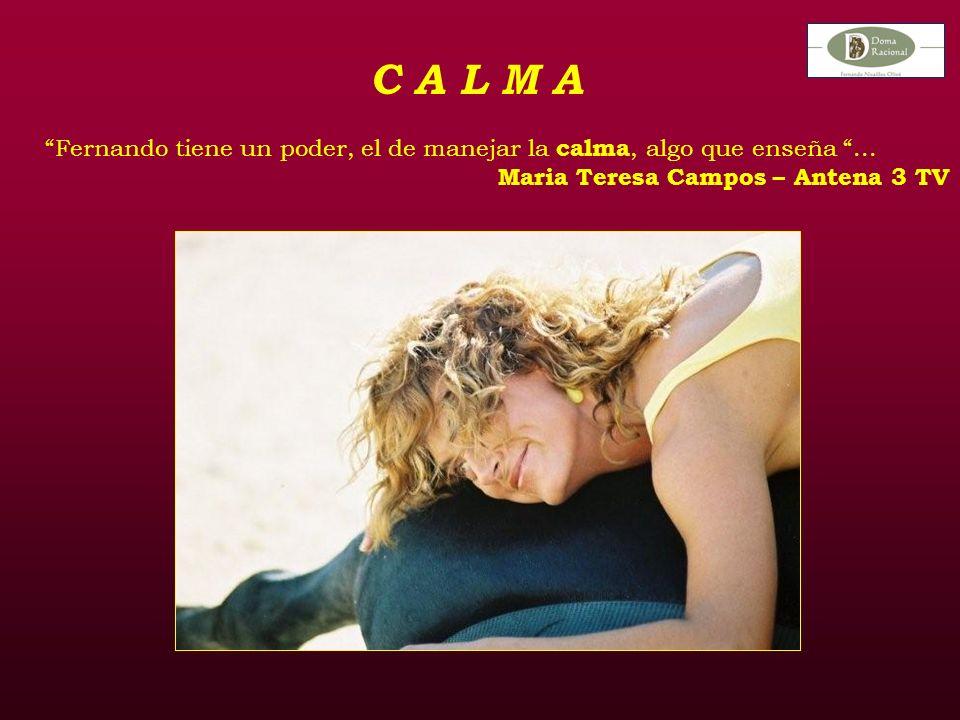 C A L M A Fernando tiene un poder, el de manejar la calma, algo que enseña...