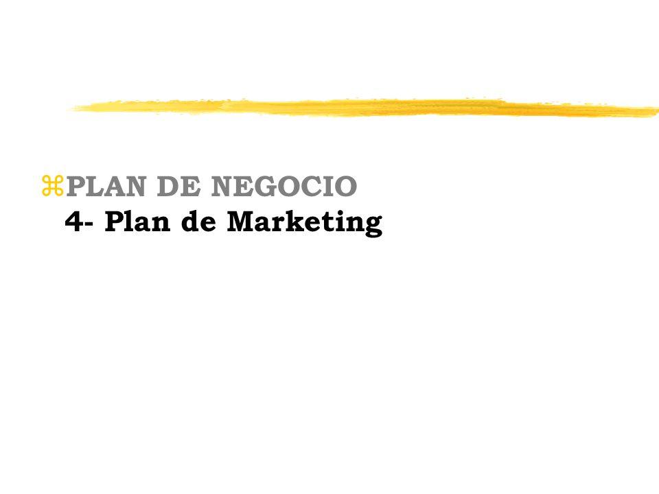 z PLAN DE NEGOCIO 4- Plan de Marketing