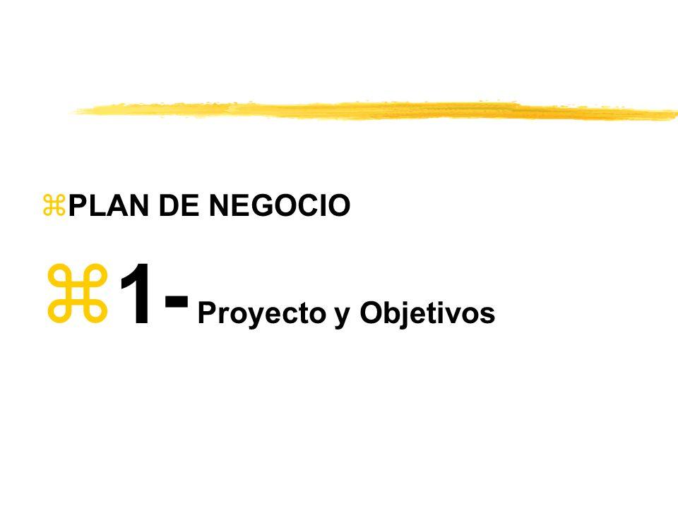 zPLAN DE NEGOCIO z1- Proyecto y Objetivos