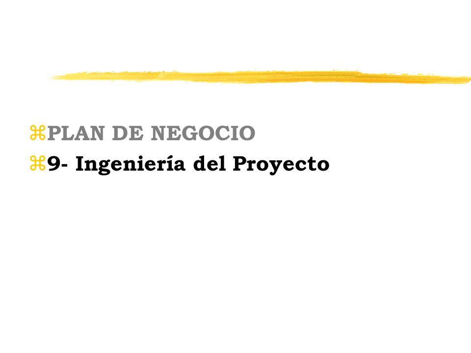z PLAN DE NEGOCIO z 9- Ingeniería del Proyecto