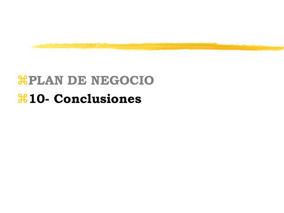z PLAN DE NEGOCIO z 10- Conclusiones
