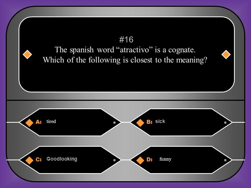 A:B: ¿Qué tal? ¿ Como estas? #15 Hola Carlos, __________________ Bien Gracias, ¿y tu? C:D: Igualmente ¿ Y tú?