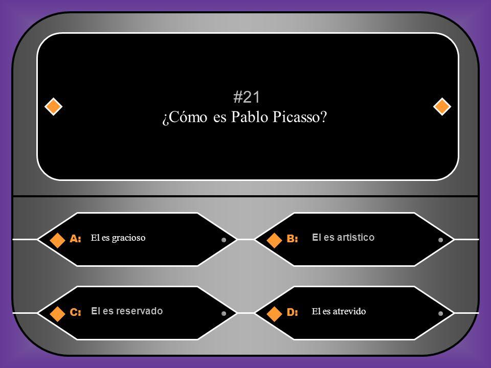 A:B: El es serio. El es perezoso. #20 A Felipe no le gusta ni hablar por teléfono ni ver la tele. ¿Cómo es el? C:D: El es deportista. El es atrevido.