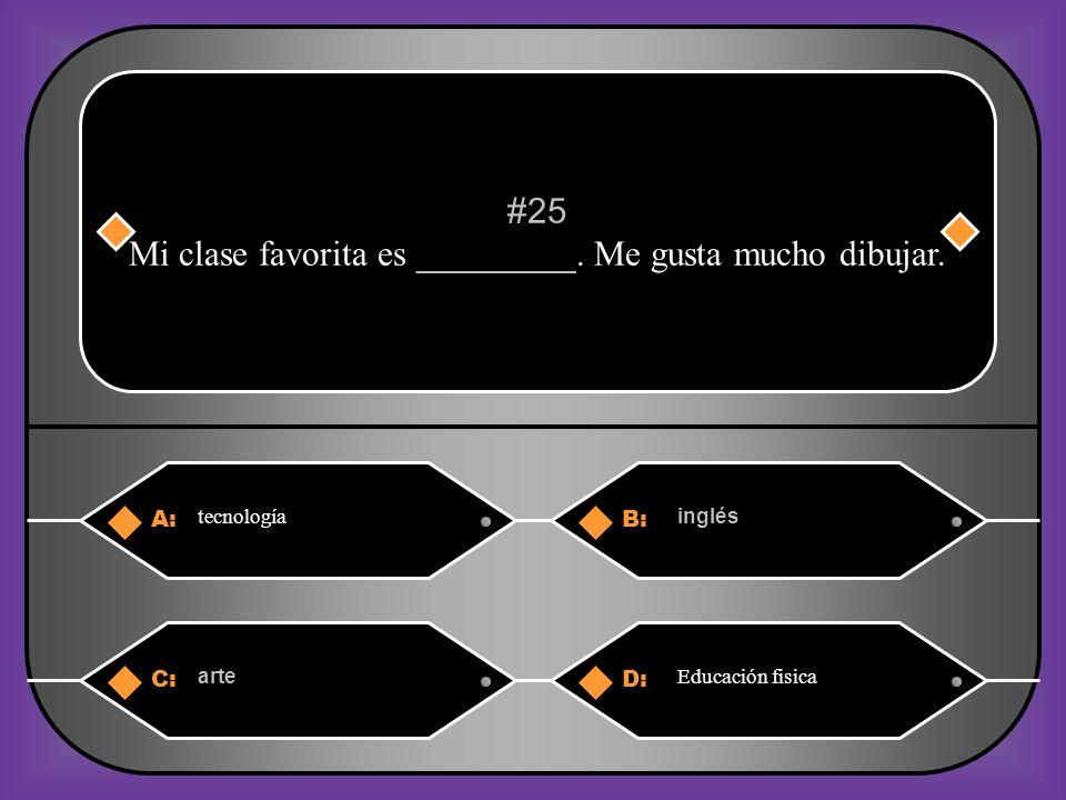 A:B: sociable talentosa #24 A Carolina le gusta bailar.