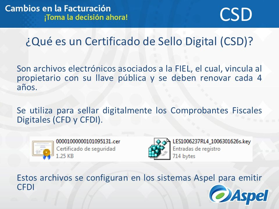 ¿Qué es un Certificado de Sello Digital (CSD).